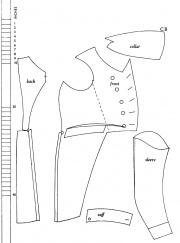 bruststück an hose kleid